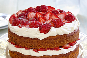 Gluten Free* Banana Split Layer Cake
