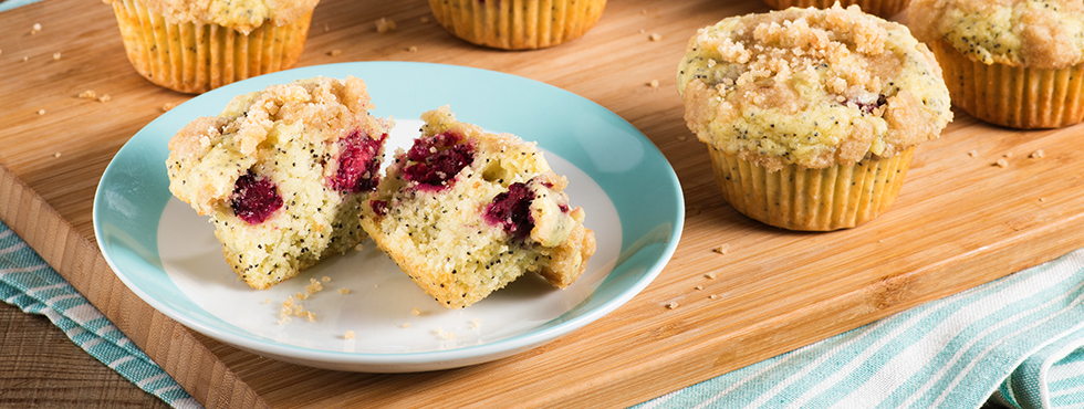 Lemon-Blackberry Crumble Muffins | Recipes
