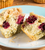 Lemon-Blackberry Crumble Muffins
