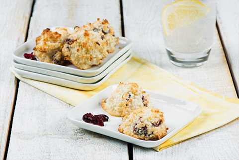 Lemon Cranberry Macaroons