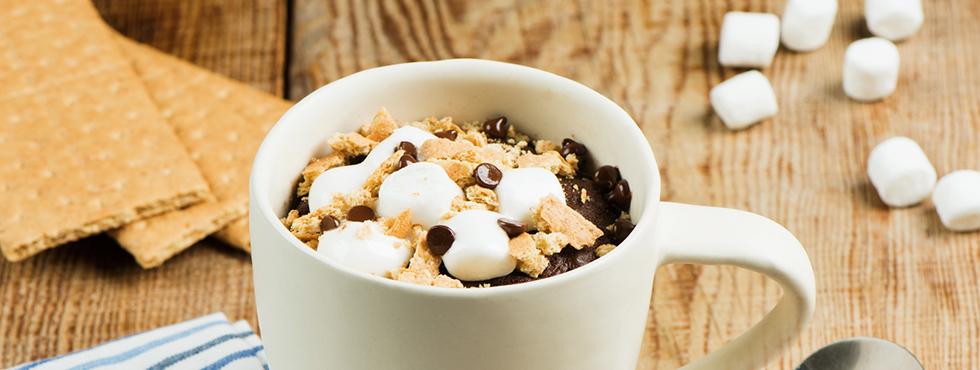 Chocolate S'mores Mug Cake    Recipes