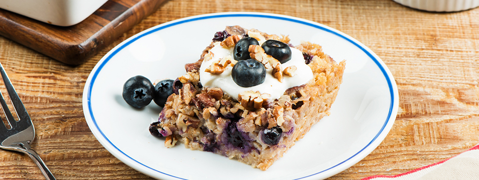 Pecan Baked Oatmeal with Blueberries  | Recipes