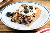 Pecan Baked Oatmeal with Blueberries
