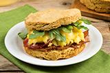 Gluten Free* Sweet Potato Biscuit Breakfast Sandwiches