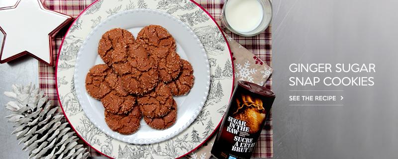 Ginger Sugar Snap Cookies