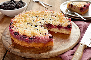 Blackberry Coconut Macaroon Cake