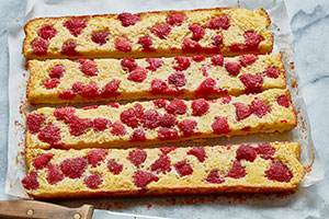 Grapefruit Squares with Berries