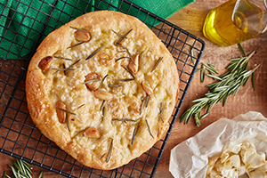 Roasted Garlic and Rosemary Foccacia