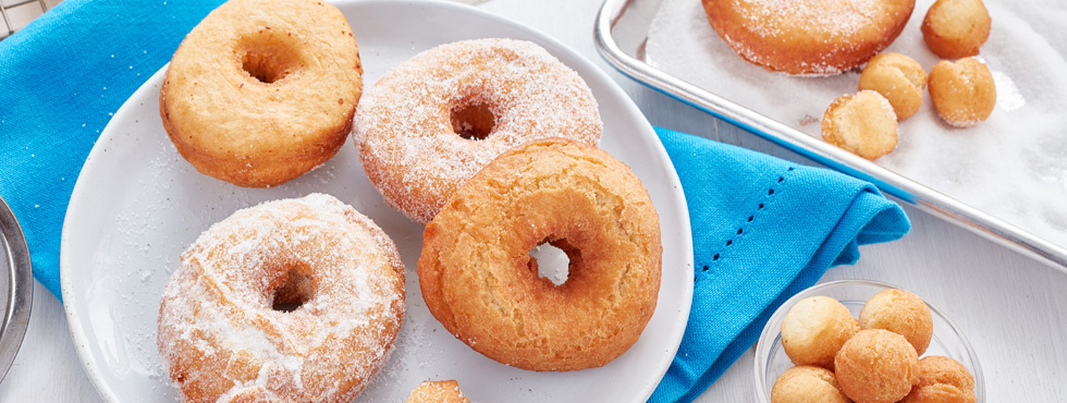 Light and Fluffy Cake Donuts | Recipes