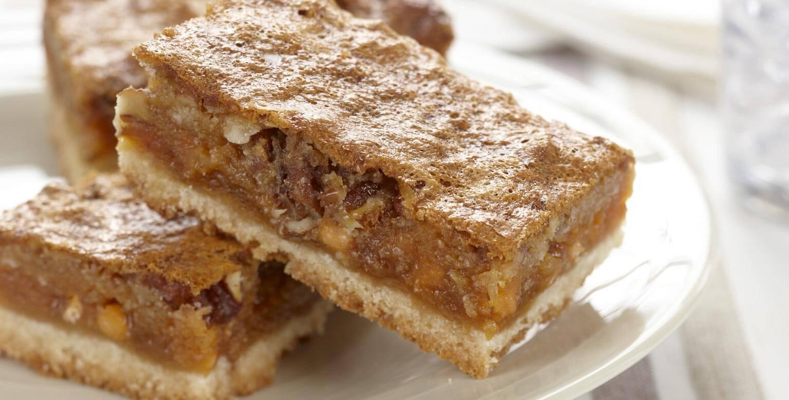 Voir la recette - Barres au caramel et aux noix