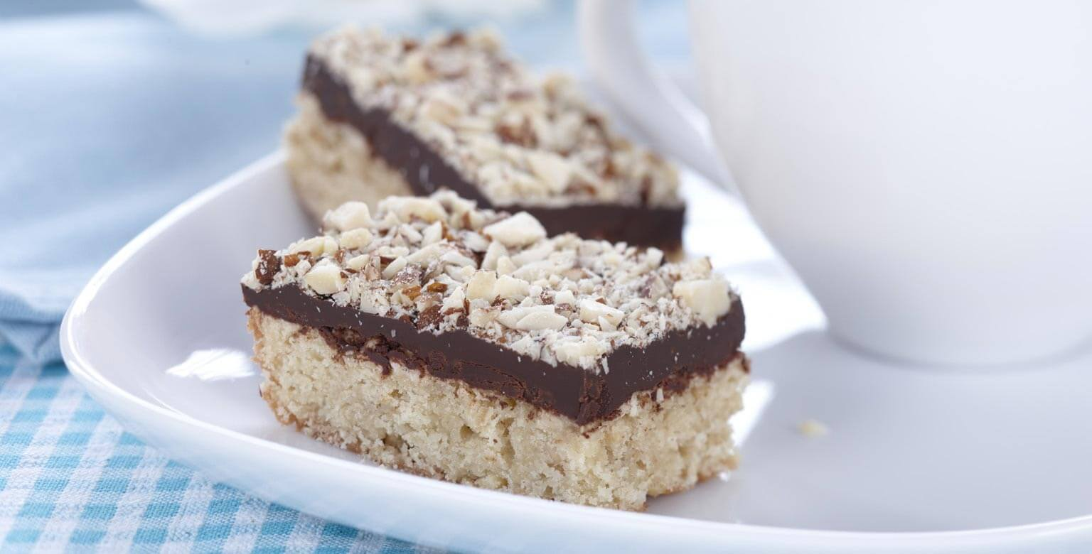 Voir la recette - Barres au chocolat et aux amandes