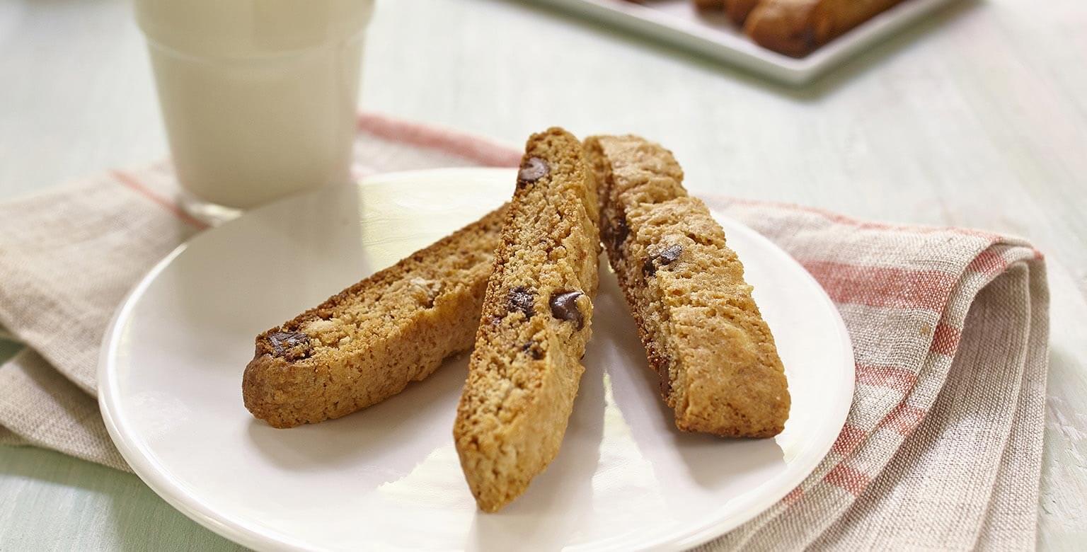 Biscottis bananes et pépites de chocolat sans gluten*