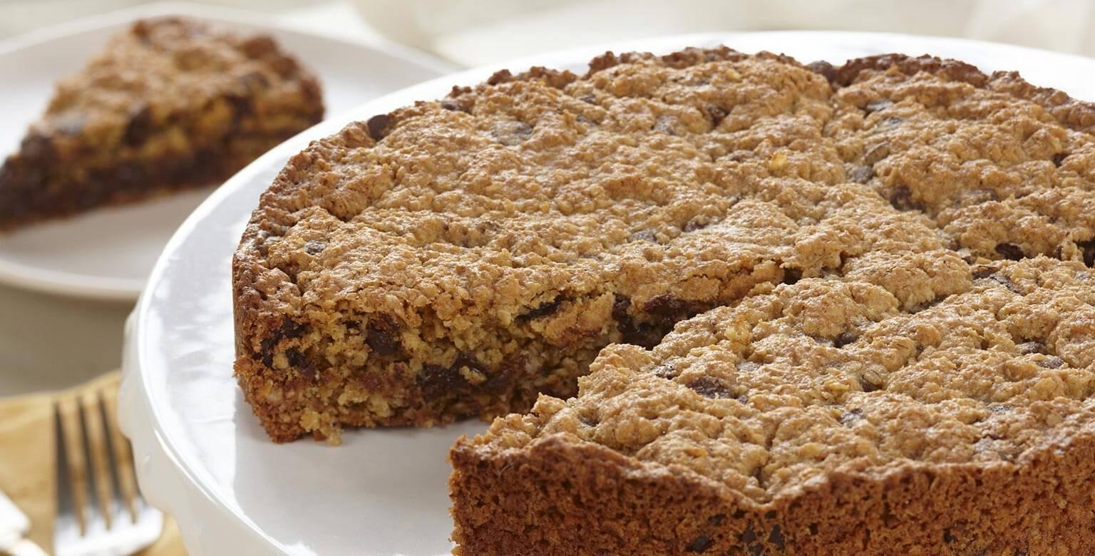 Voir la recette - Biscuit géant au gruau et au chocolat