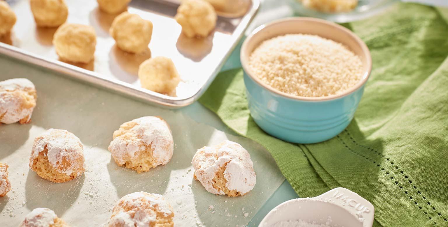 Voir la recette - Biscuits amaretti