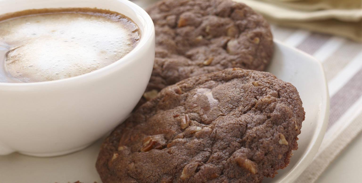 Voir la recette - Biscuits au caramel et au chocolat