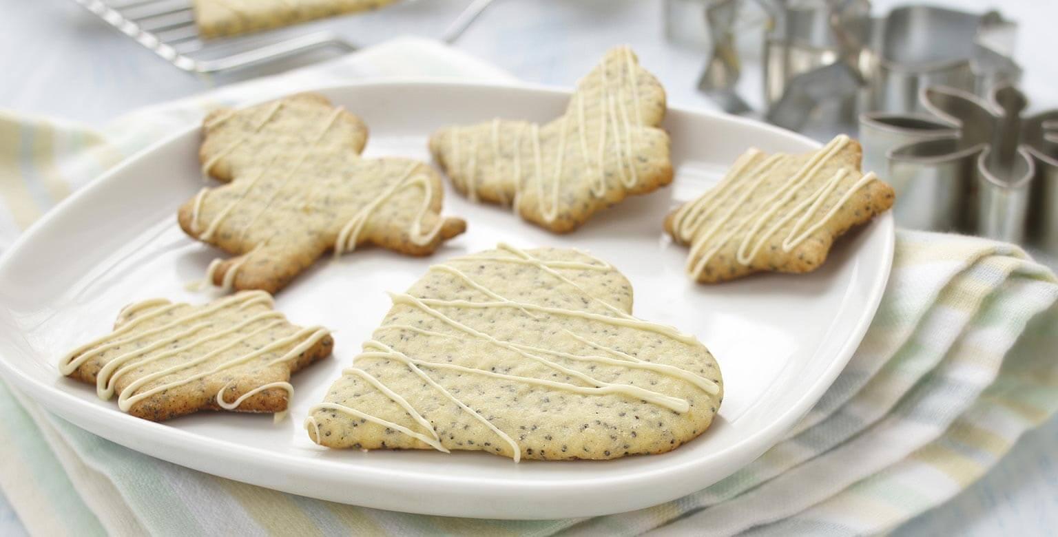 Biscuits au citron et graines de pavot