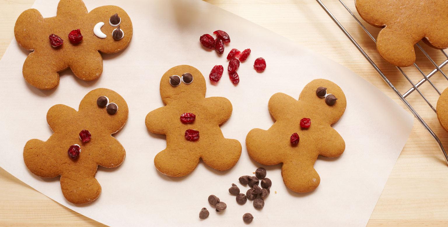 Voir la recette - Biscuits au gingembre à l'emporte-pièce