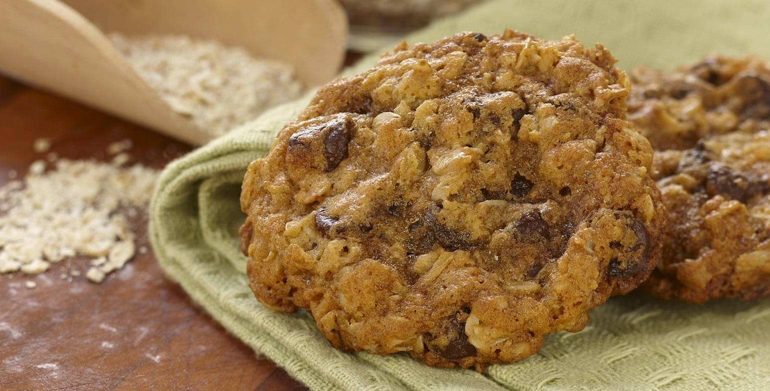Voir la recette - Biscuits au gruau et aux grains de chocolat