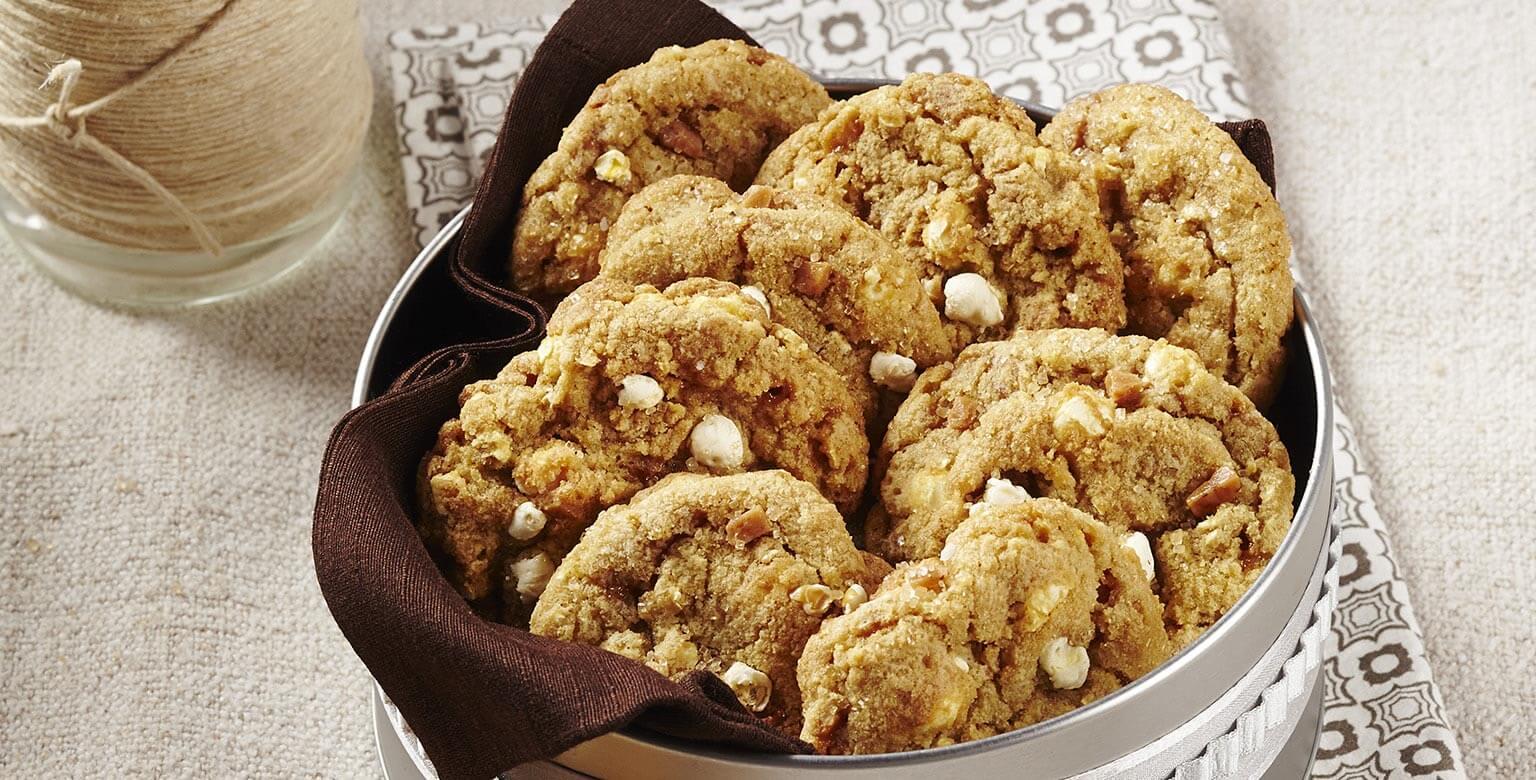 Voir la recette - Biscuits au maïs soufflé et caramel salé