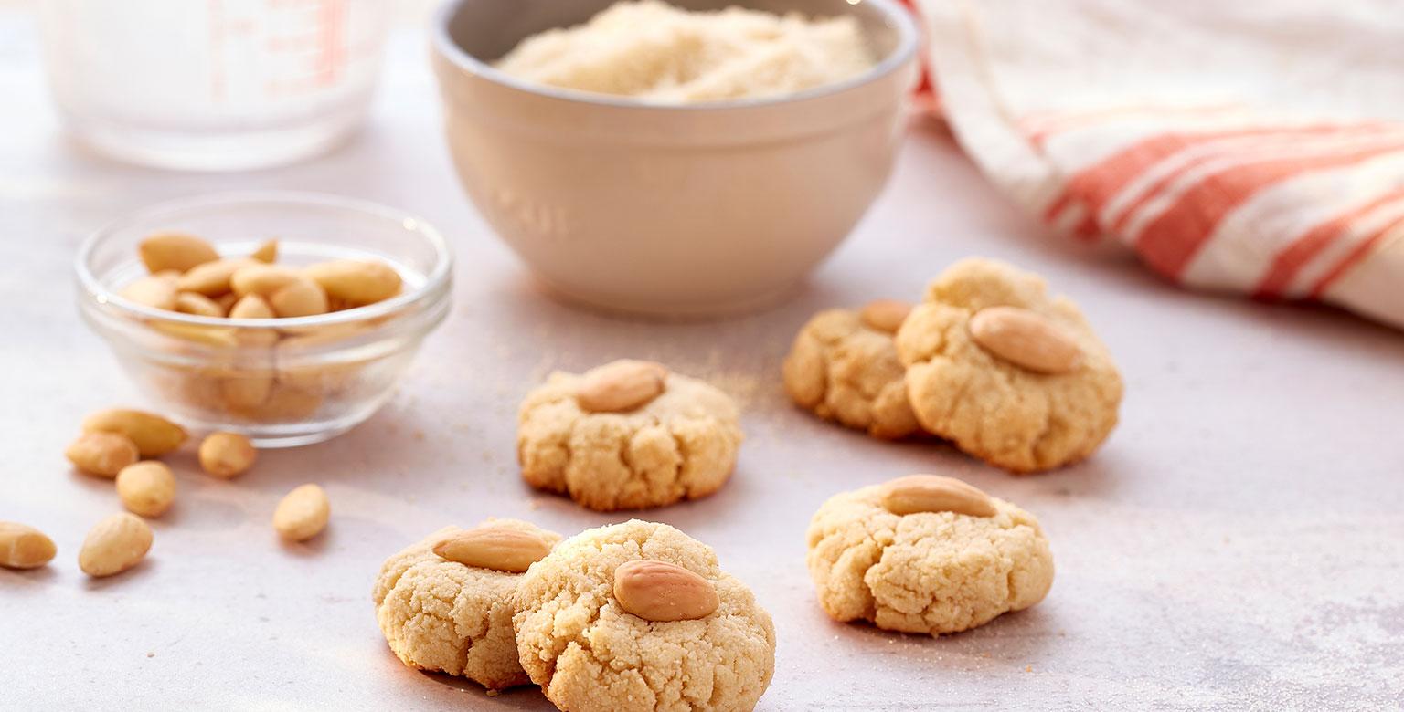 Voir la recette - Biscuits aux amandes à 4 ingrédients