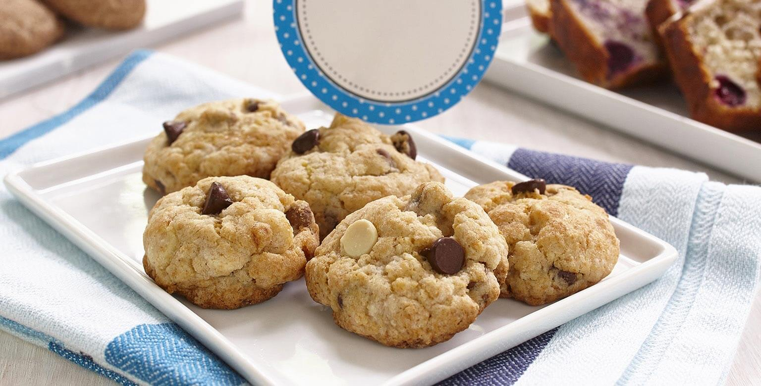 Biscuits aux bananes et au chocolat sans gluten*