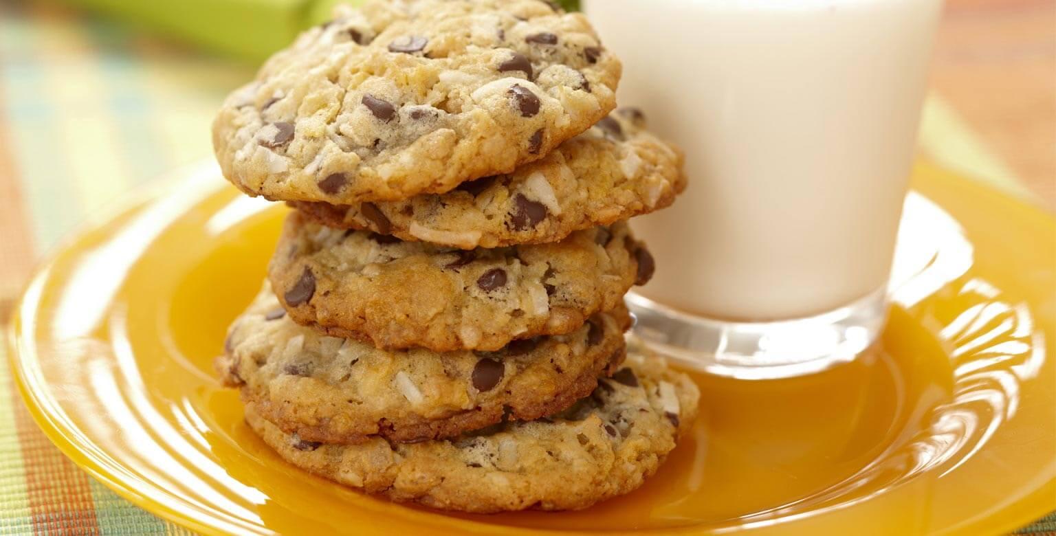 Biscuits aux grains de chocolat et au miel