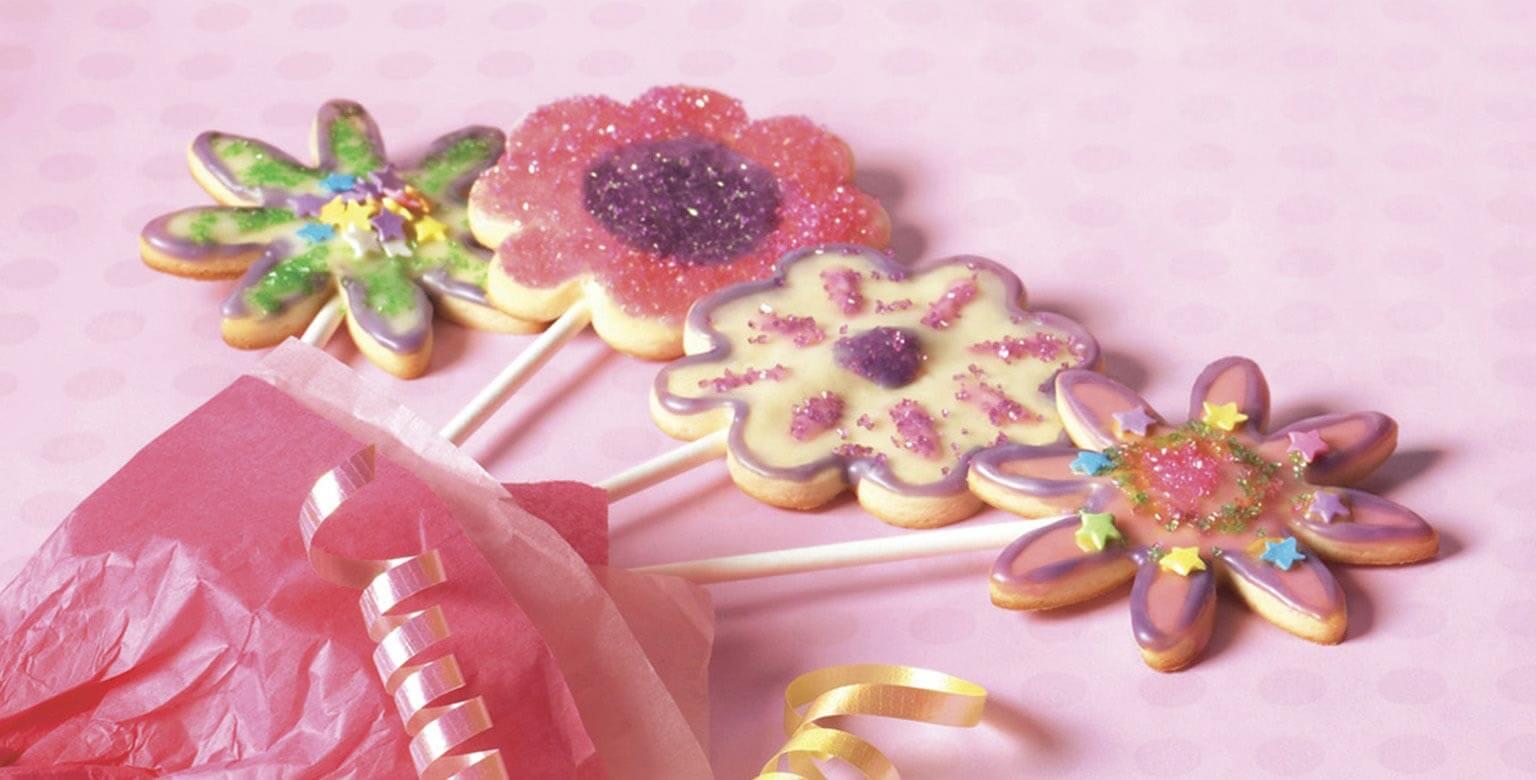 Voir la recette - Biscuits en fleurs