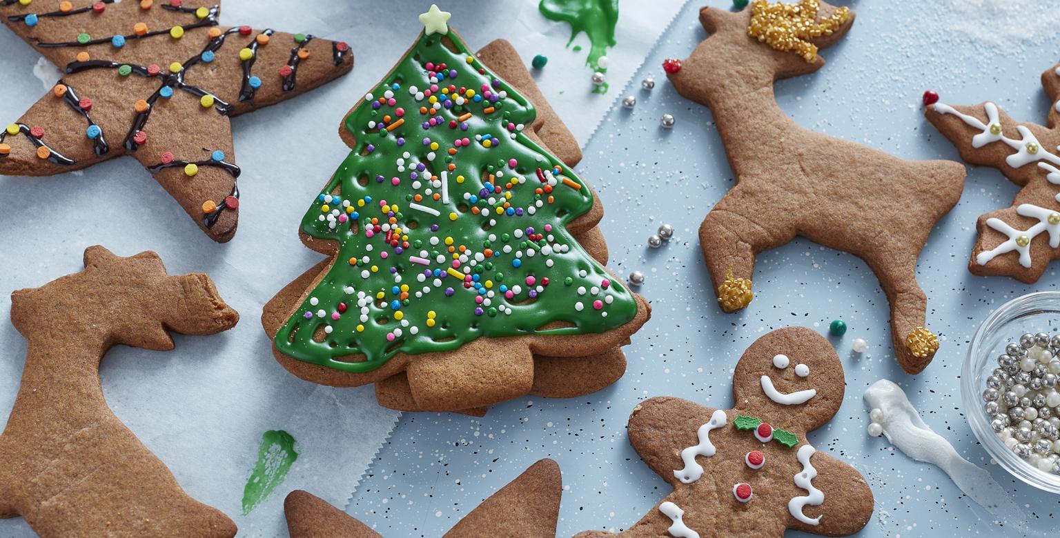 Biscuits en pain d'épice des fêtes