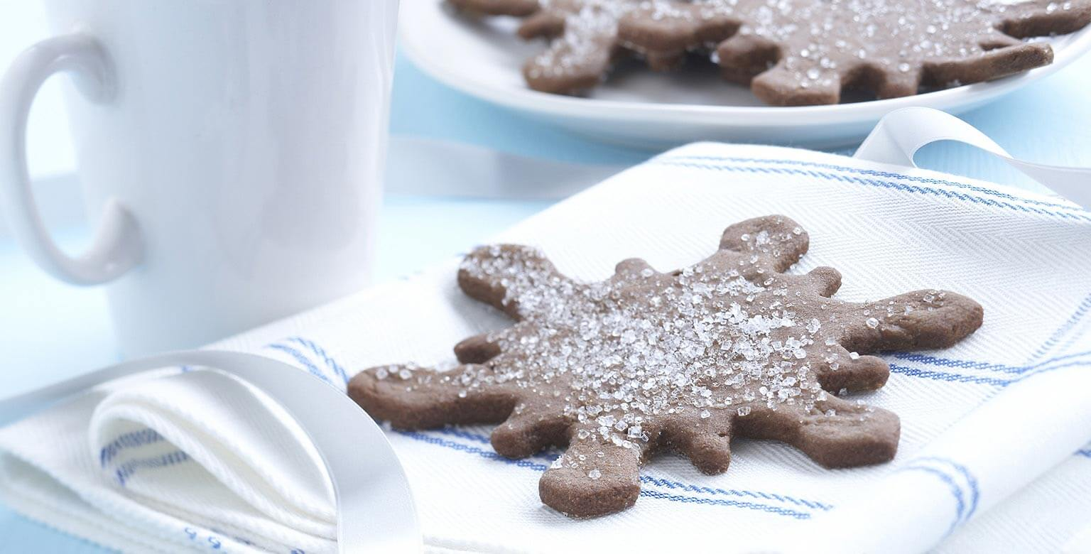 Voir la recette - Biscuits magiques aux flocons de neige au gingembre