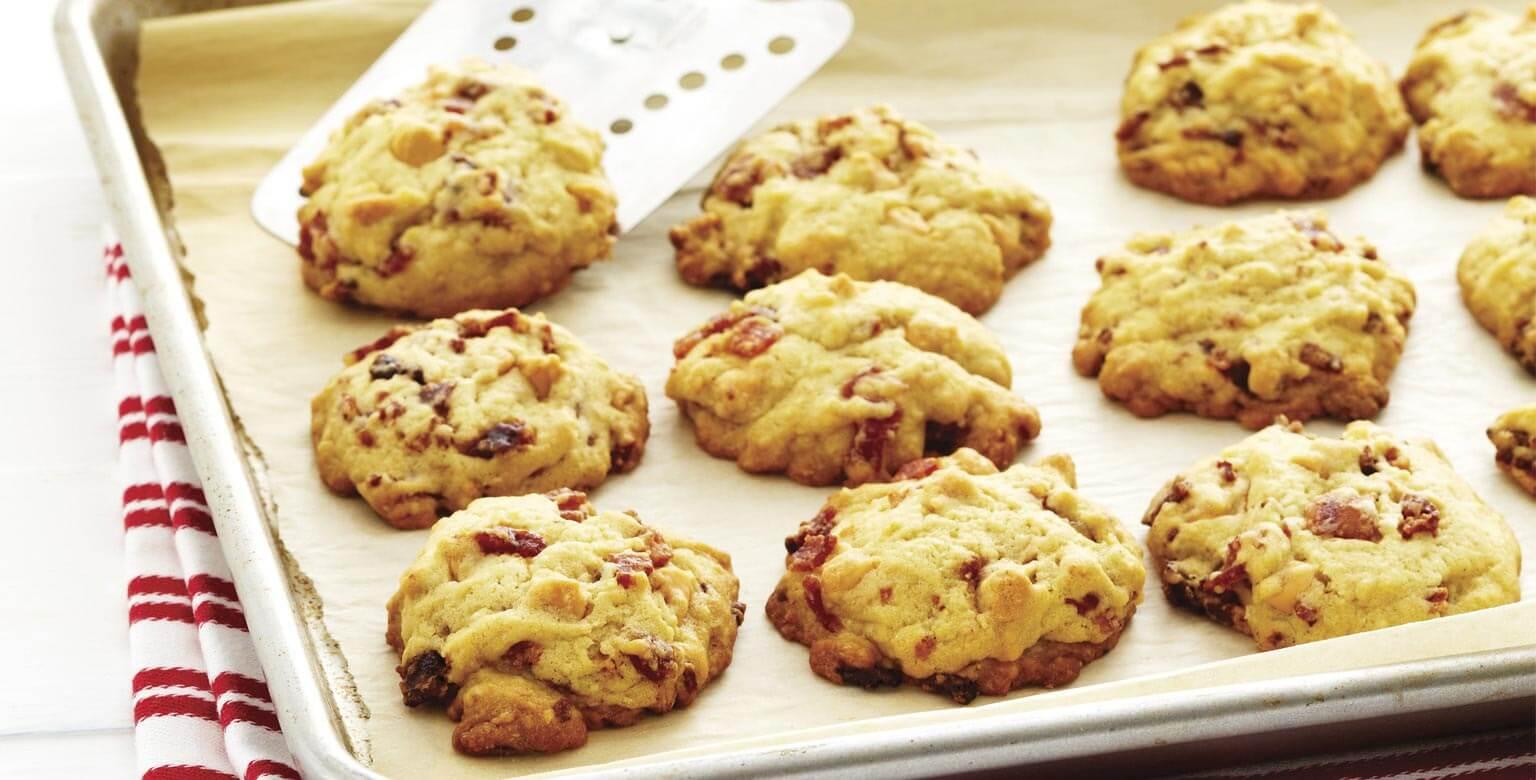 Voir la recette - Biscuits moelleux au caramel écossais et au bacon