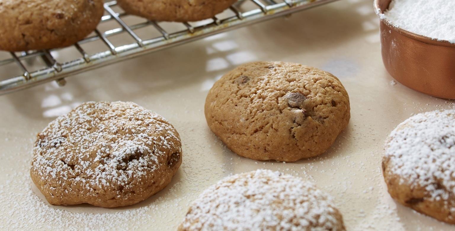 Biscuits tourbillon de brisures de chocolat