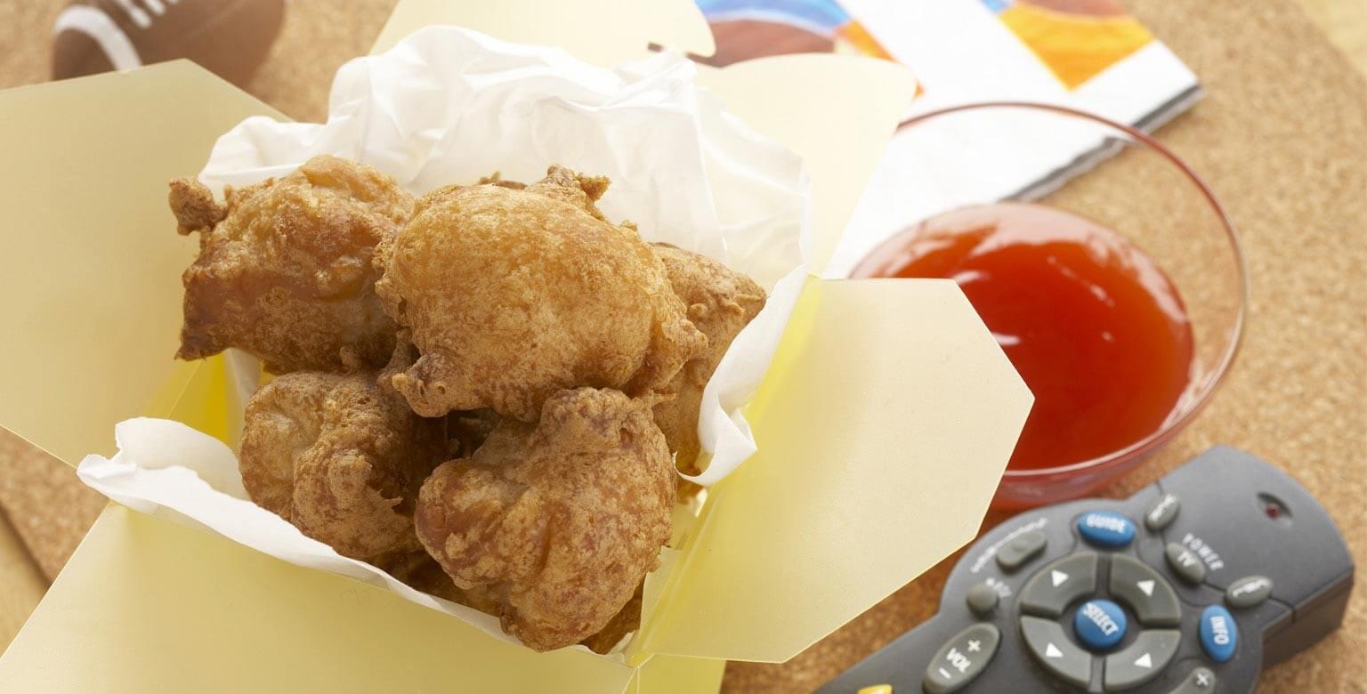 Voir la recette - Boulettes au poulet et à la noix de coco