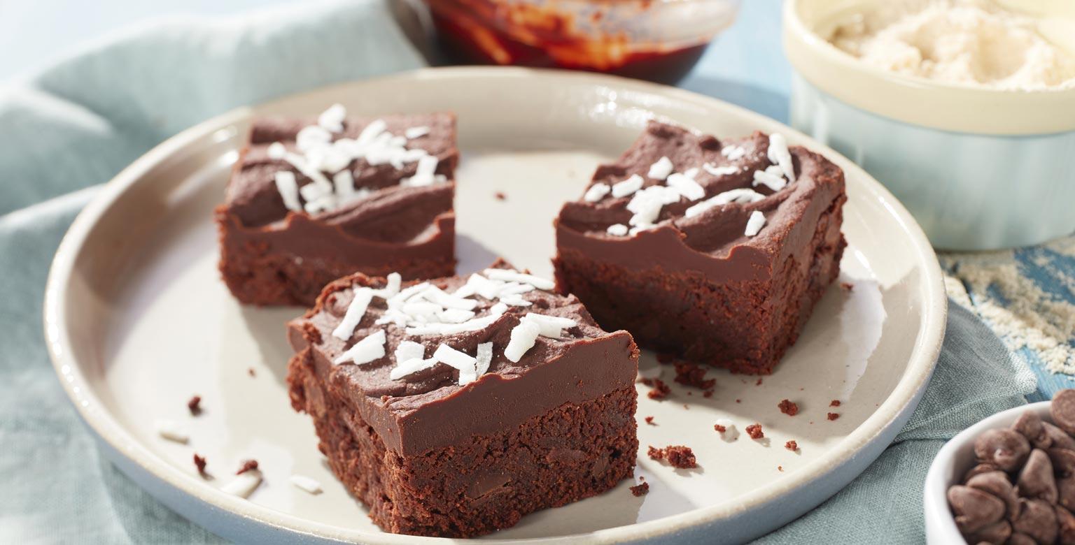 Voir la recette - Brownies au chocolat et à la noix de coco