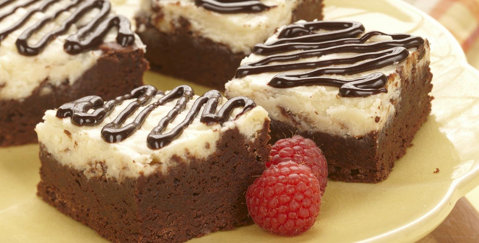 Voir la recette - Brownies au gâteau au fromage