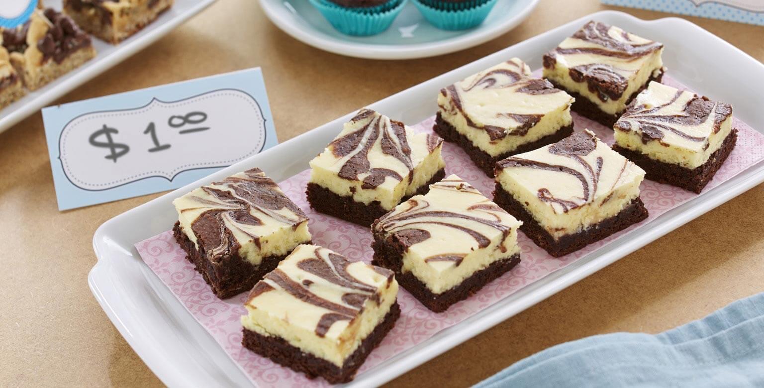 Voir la recette - Brownies-marbres-au-gateau-au-fromage