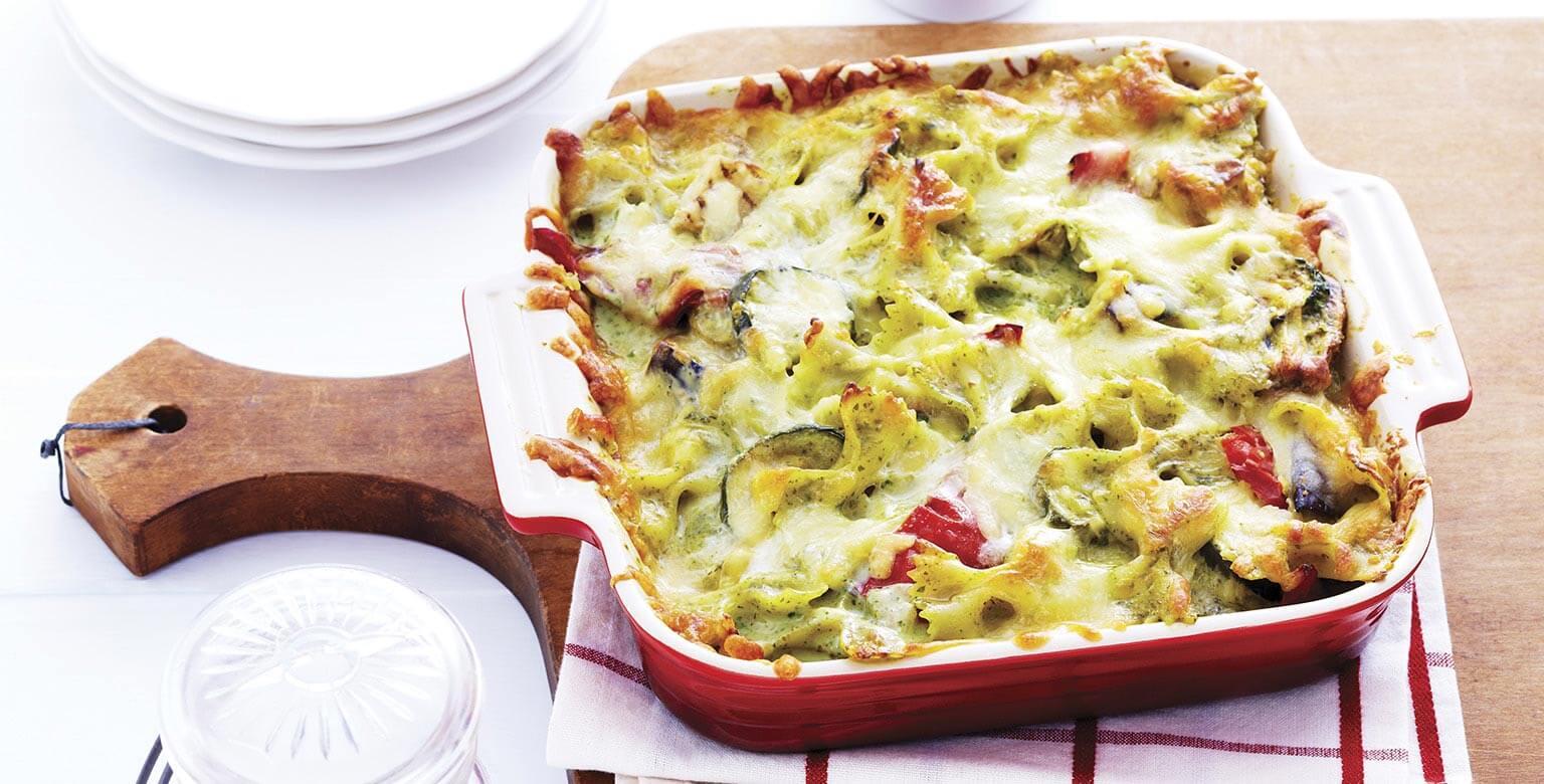 Voir la recette - Casserole de légumes au pesto à la toscane