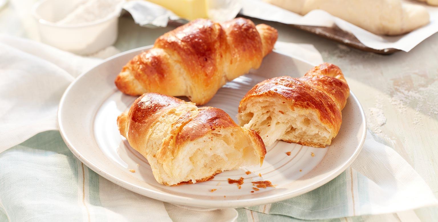 Voir la recette - Croissants plus faciles faits avec de la farine biologique