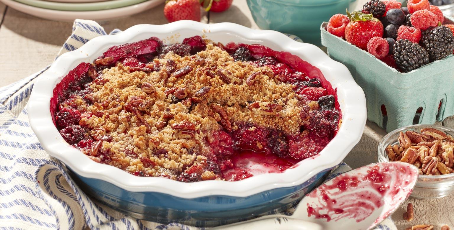 Voir la recette - Croustillant aux fruits sans gluten