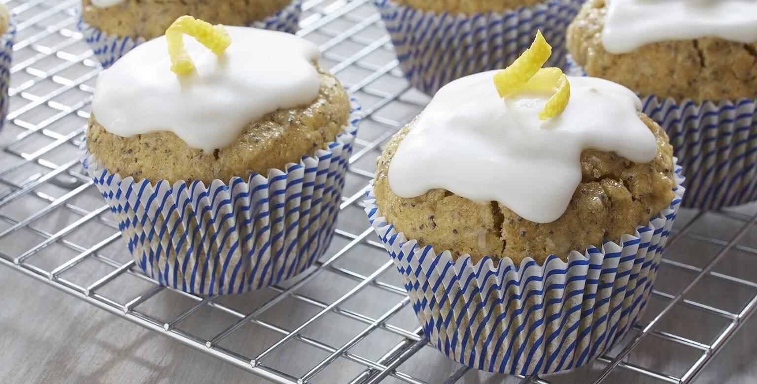 Voir la recette - Cupcakes au citron et graines de pavot sans gluten