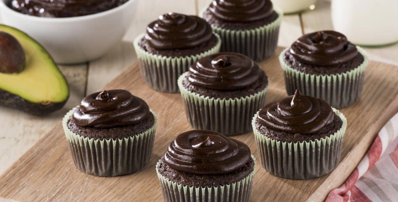 Voir la recette - Cupcakes chocolat et avocat