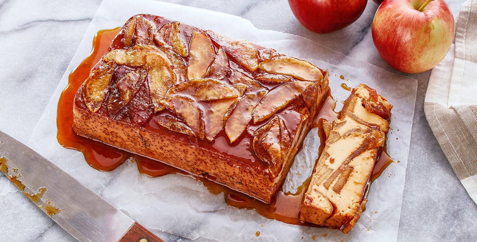 Voir la recette - Flan aux pommes d'automne