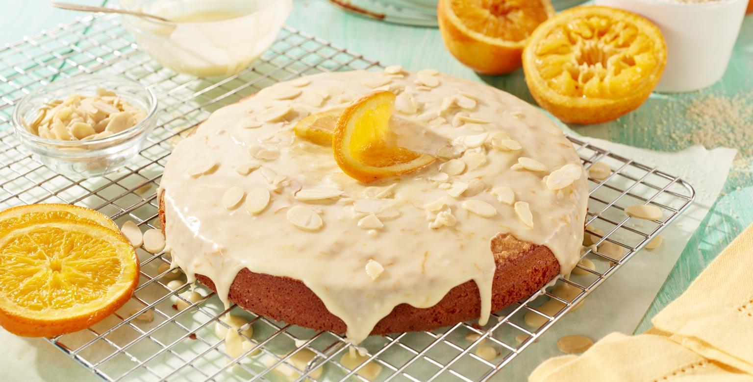Voir la recette - Gâteau aux amandes, à l'orange et à l'huile d'olive