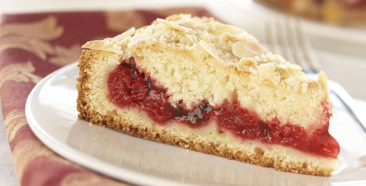 Voir la recette - Gâteau au café, aux cerises et aux amandes
