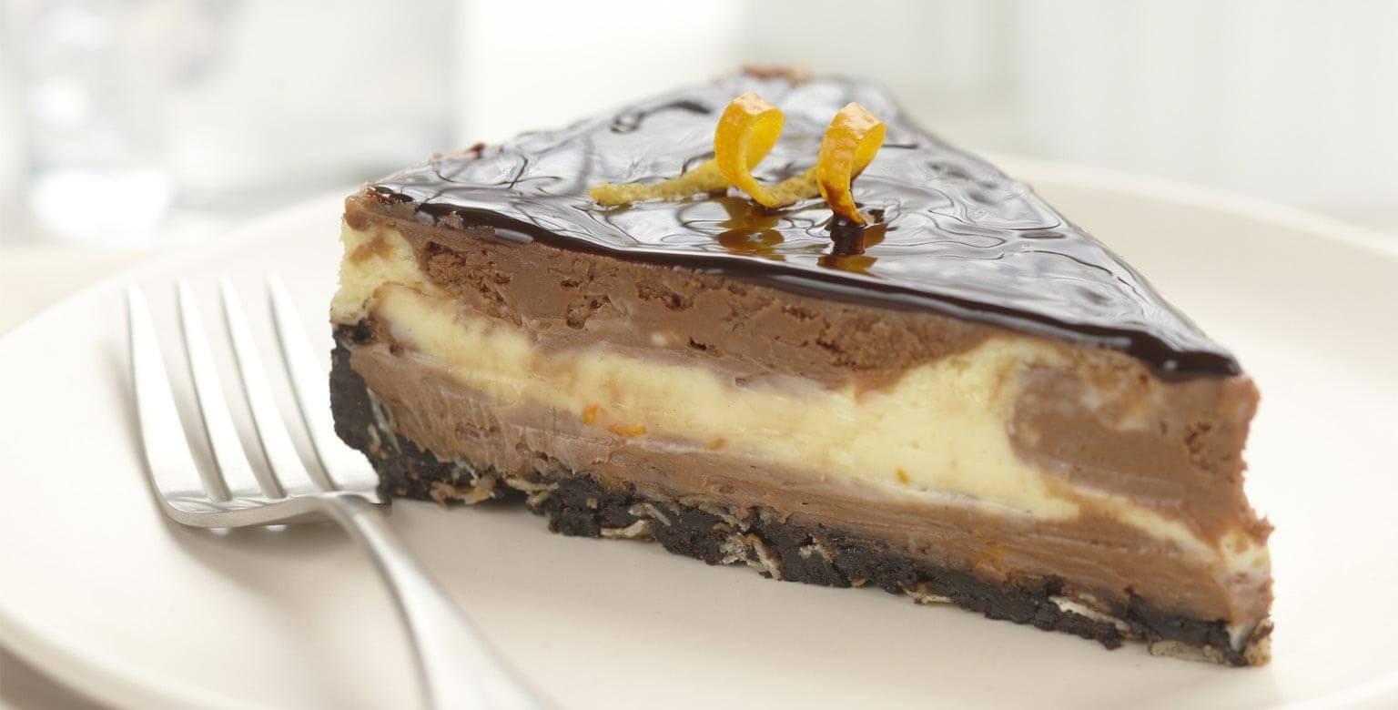 Voir la recette - Gâteau au fromage au chocolat et à l'orange