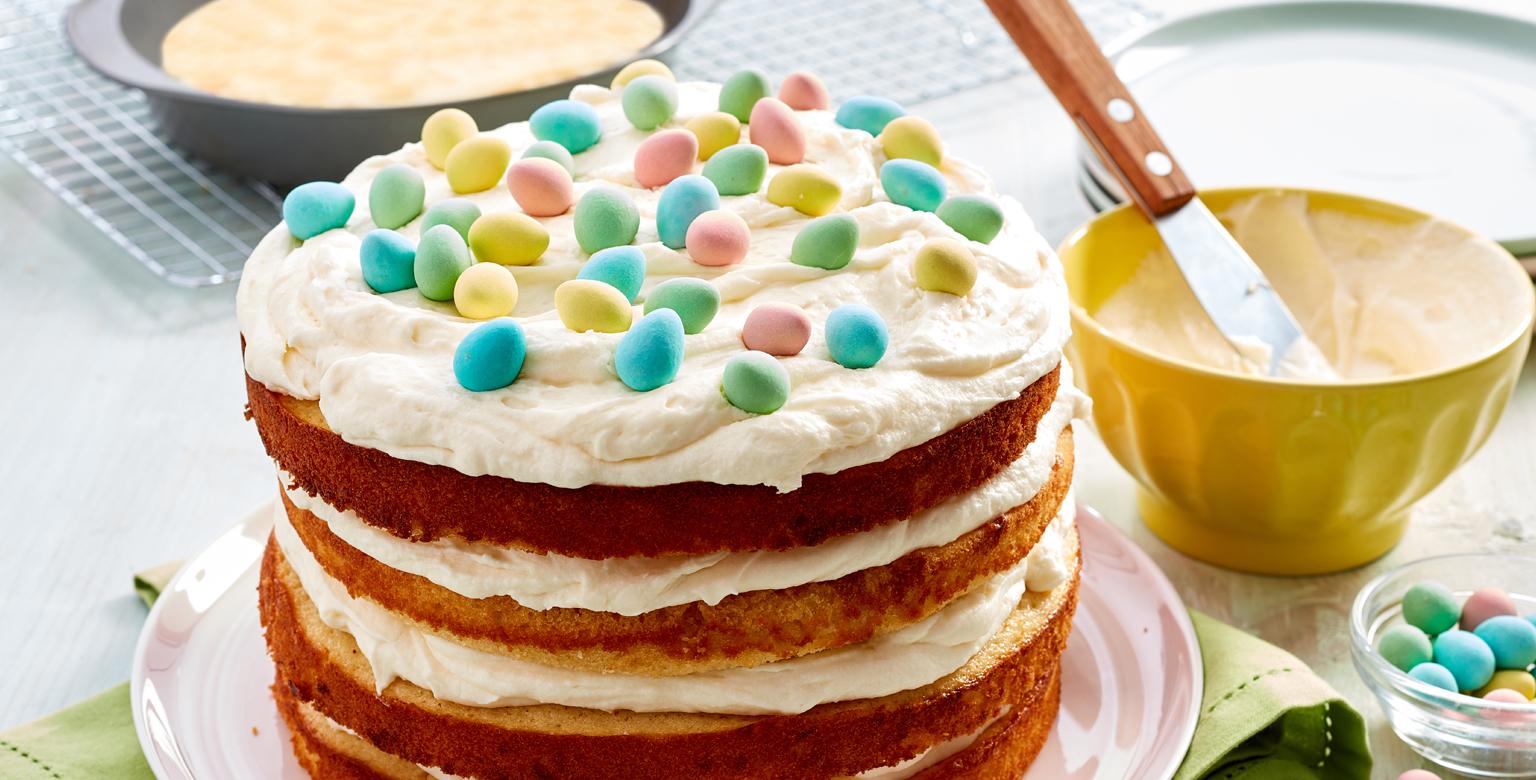Voir la recette - Gâteau au lait frappé malté à la vanille