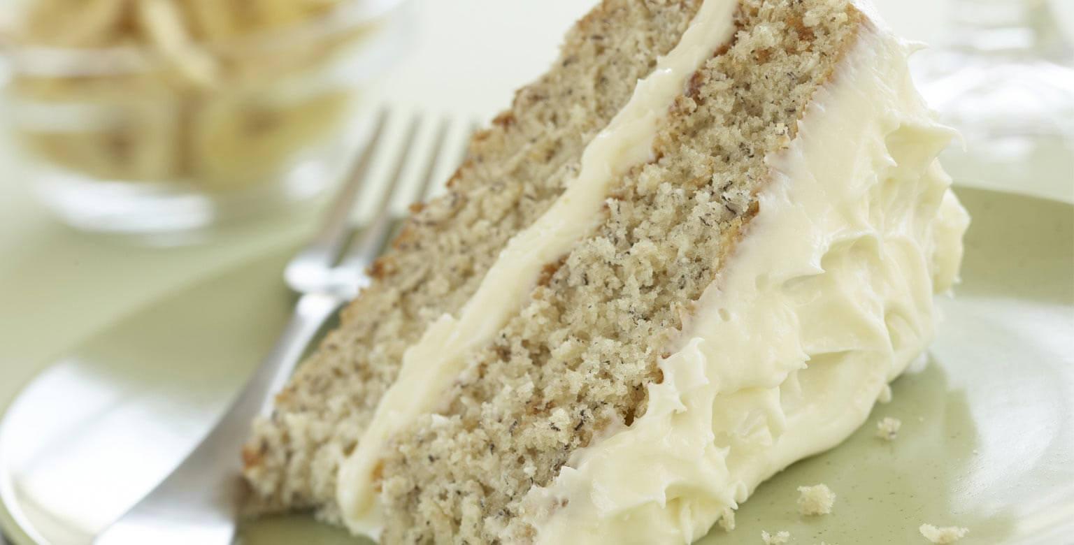 Voir la recette - Gâteau aux bananes avec glaçage au fromage à la crème