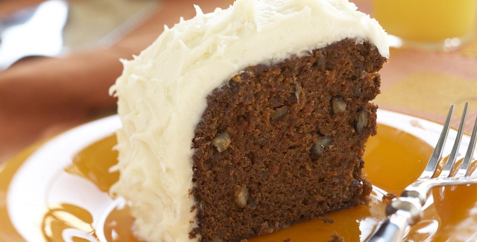 Voir la recette - Gâteau aux carottes avec glaçage crémeux au fromage