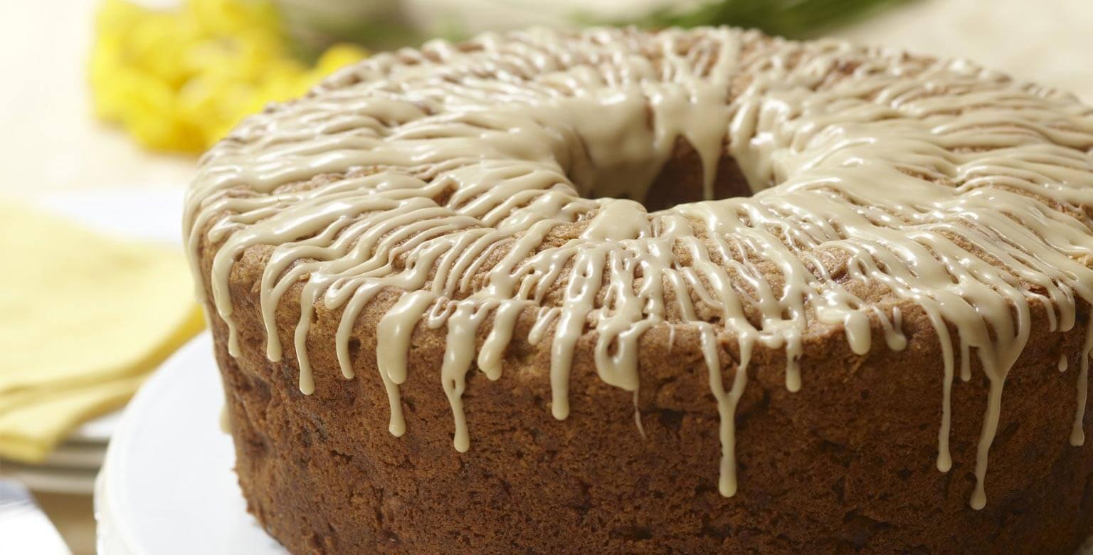 Voir la recette - Gâteau aux pommes et aux canneberges