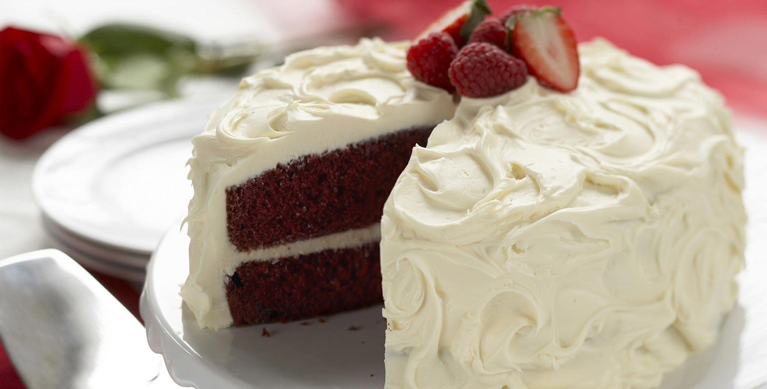 Voir la recette - Gâteau de velours rouge