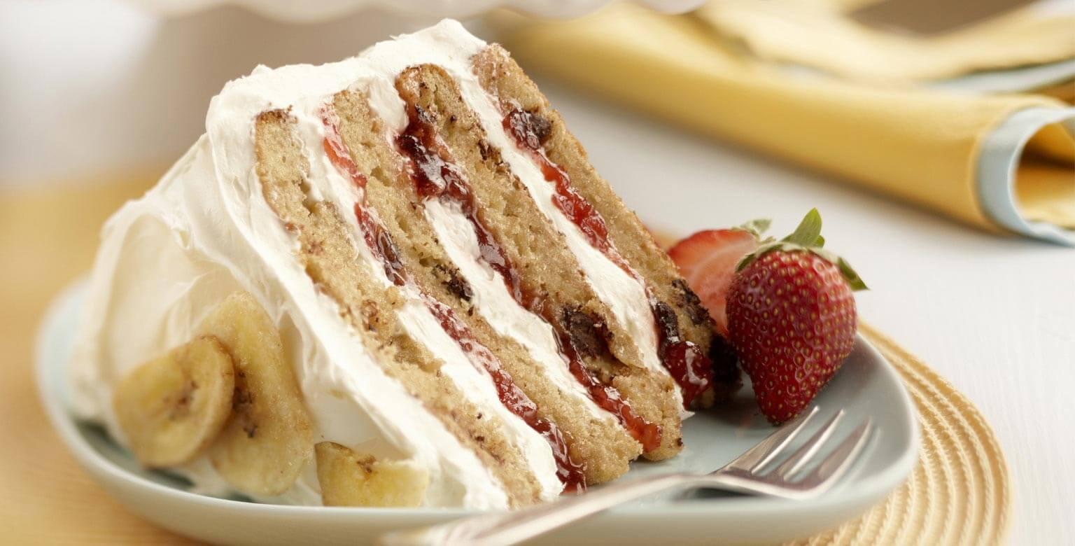 Voir la recette - Gâteau étagé à la banane royale